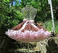 Пышные юбки pettiskirt шоколад в розовой пене