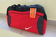Сумка женская спортивная Nike (6611) красная с черным код 0364 А