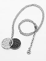 Женское ожерелье Mercedes Women's Necklace Seoul, Silver / Black