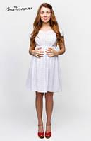 Красивое платье для кормления Жасмин Белая прошва