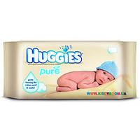 Детские влажные салфетки Huggies Pure без отдушек 56 шт