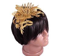 Обруч на голову «Золотой букет»