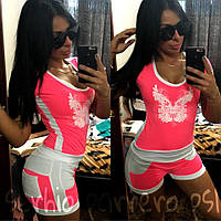 Костюм женский футболка и шорты  серх020