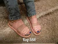 Модные силиконовые легкие босоножки ,светло - розовые