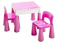 Детский стол MAMUT TEGA+ 2 стула цвет розовый