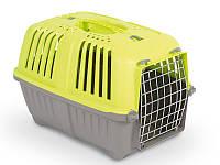 Pratico (Пратико) Переноска для собак и кошек Pratiko Pet Carrier-1 салатовая до 12кг 48*31,5*33 (металлическая дверь)