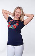 Женская футболка-вышиванка с маками