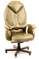 Кресло Diamond экокожа серебристый (ТМ Kulik System)