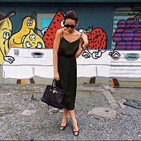 Платье ТМ B&H.Материал: матовый шелк.Цвет: черный. Размер: S-M, M-L.AA 064