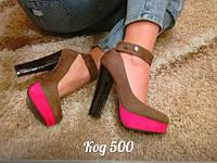 Мега стильные модные туфли женские на каблуке
