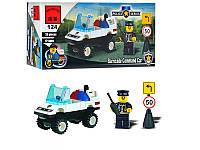 Конструктор BRICK 457796/124 полицейская машинка, фигурка, 39дет