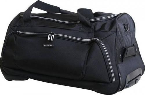 Надежная дорожная сумка 37 л. VIP COLLECTION Barcelona 55 Grey TF.30.55.grey, черный с серым