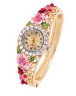 """Часы-браслет женские """"Розовые цветы"""""""