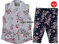 Комплект блуза и трессы для девочки 6,7,8,9 лет 202630