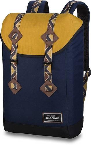 Классный городской мужской рюкзак для прогулок Dakine TREK 26L darwin 610934902198 синий/желтый