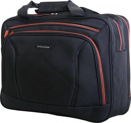 Функциональная дорожно-деловая сумка 12 л VIP COLLECTION Barcelona 16 Orange TF.30.16.orange, черный-оранж
