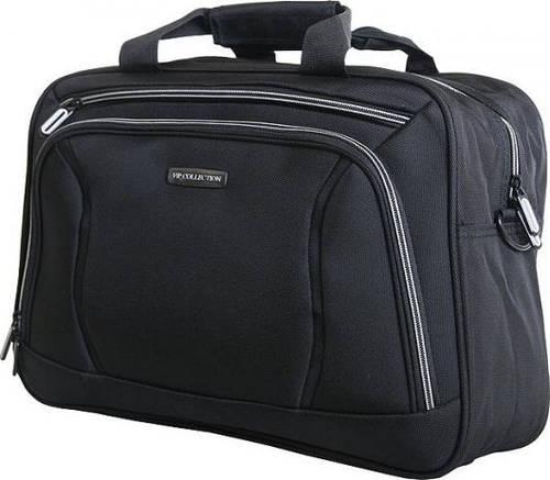 Деловая мужская сумка 14 л. VIP COLLECTION Barcelona 40 Grey TF.30.40.grey, черный с серым