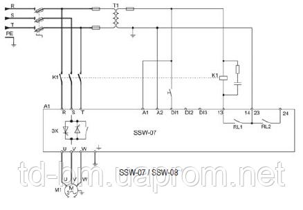Монтажная схема SSW-07 и SSW-