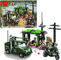 Конструктор BRICK 809 военный штаб, (285 деталей)