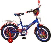 Велосипед детский PROF1 мульт 16 дюймов PS1631 Spider (сине-черный)
