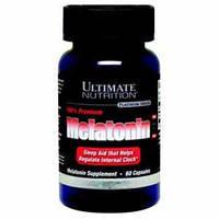 Мелатонин, гормон сна Ultimate Nutrition 100% premium melatonin 60 капс