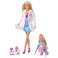 Куклы Штеффи и Эви Детский врач с аксессуарами Simba 5730934