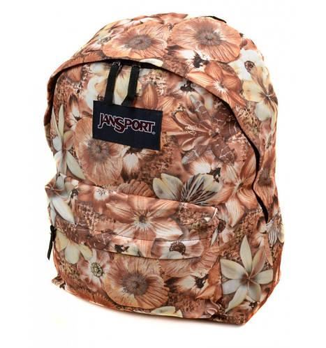 Молодежный городской рюкзак 28 л. Jansport 3334-a889-2 (1) 3d цветы