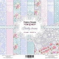 """Набор бумаги для декорирования Фабрика  декора - """"Shabby dreamsy"""", 30x30 см, 10 листов"""