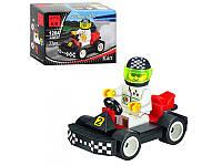 Конструктор BRICK 1204 гоночная машинка,фигурка, 33 дет, в кор-ке, 9,5-7-4,5см