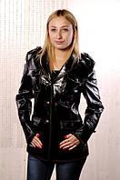 Лаковый кожаный пиджак-Распродажа!!!