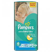 Подгузники Pampers active baby-dry 56 шт (6 15+ кг)