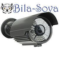 IP-видеокамера TSP-5812H с POE, уличная, 1.3 Mp (1280x960), f= 2.8-12 мм, ИК до 40 м, Tesla
