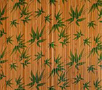 """Бамбуковые обои """"листья бамбука зеленые"""", ширина 90 см"""