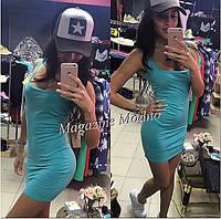 Женское стильное летнее платье - майка