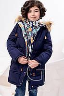 Теплое зимнее пальто  для девочки X-Woyz 8239