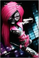 Monster High Fierce Rockers Catty Noir Монстер хай Кэти Нуар Лютые рокеры ВЫРЕЗАННАЯ ИЗ НАБОРА