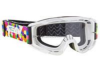 Очки кроссовые (маска) Geon Lykan GN90 white