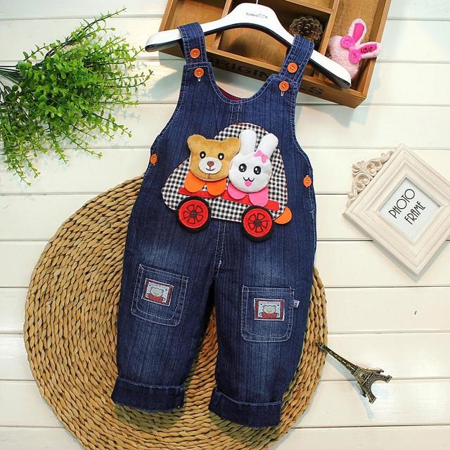 Детский комбинезон из джинсов