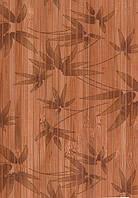 """Бамбуковые обои """"листья бамбука"""" коричневые, ширина 90 см"""