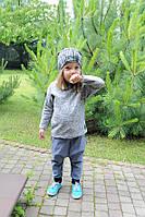 Трикотажная хлопковая кофточка мышка с рукавом 3/4. Унисекс. Размеры: 98, 104 см