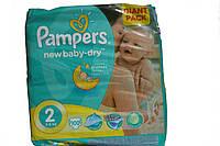 Подгузники Pampers new baby-dry 100 шт (2 3-6 кг)