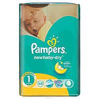 Подгузники Pampers new baby-dry 43 шт (1 2-5 кг)