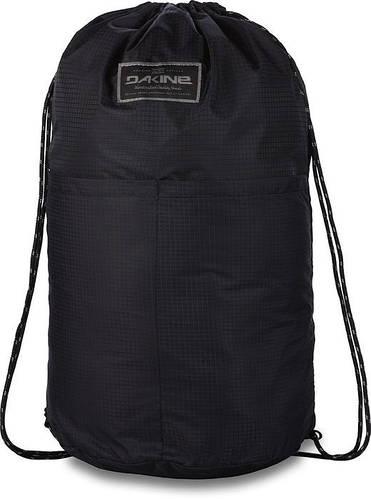 Замечательный мужской рюкзак-мешок для прогулок Dakine STASHABLE CINCHPACK 19L black 610934903676 черный