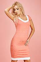 Красивое розовое платье с белой окантовкой