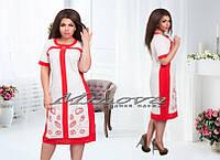 Льняное летнее платье Кларинда(размеры 52-56)