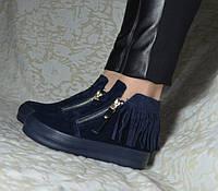 Ботинки замшевые женские демисезонные
