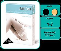 Чулки женские компрессионные 2 класс компрессии с открытым носком