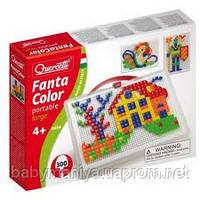Мозаика для детей фишки квадратные и треугольные 300 шт Quercetti