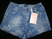 Детские джинсовые шорты для девочки р.2-10лет