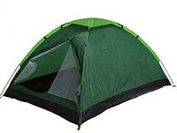 Палатка туристическая FTD-1101 двухместная зелёная